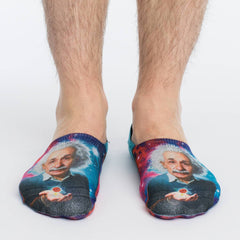 Men's Albert Einstein No Show Socks - Good Luck Sock