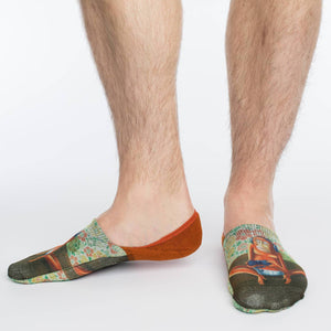 Men's Gaming Monkey No Show Socks