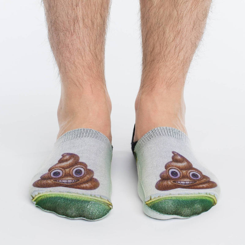 Men's Piles Of Poop No Show Socks