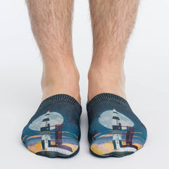 Men's Rocket Launch No Show Socks - Good Luck Sock
