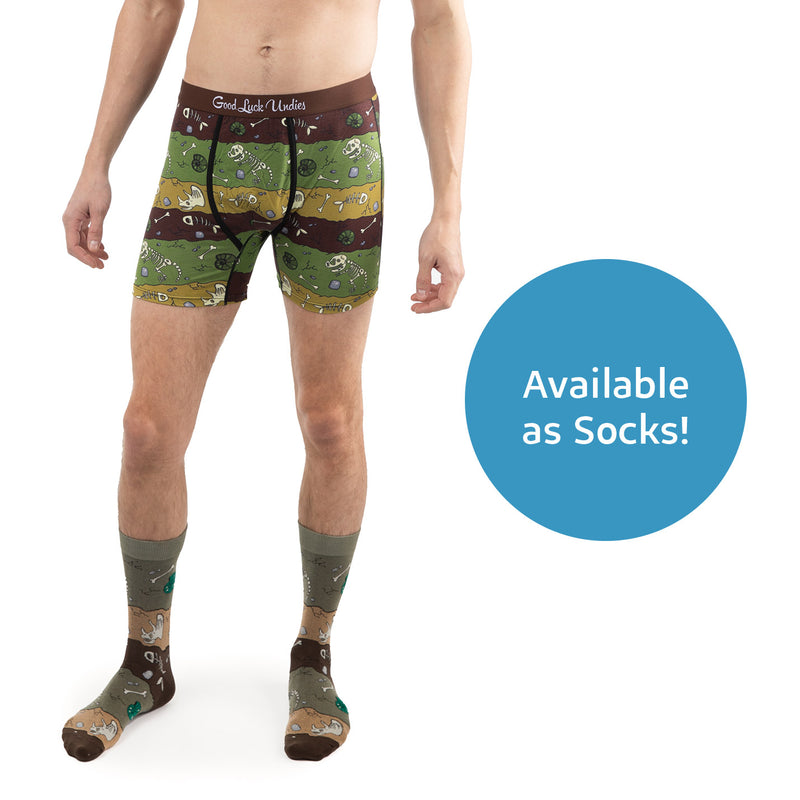 Men's Dinosaur Fossil Layers Underwear