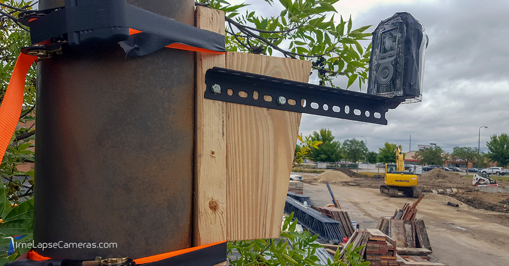 Mounting a Brinno Time Time Lapse Construction Camera to a Pole