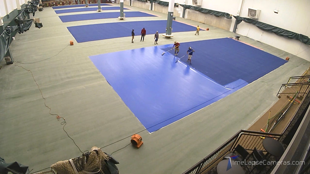 Tennis & Pickleball Court Painting, Brinno Time Lapse