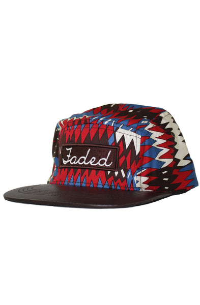 WAVES LEATHER 5 PANEL HAT