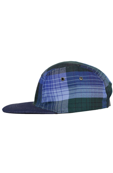 DENIM BLUE FLANNEL 5 PANEL