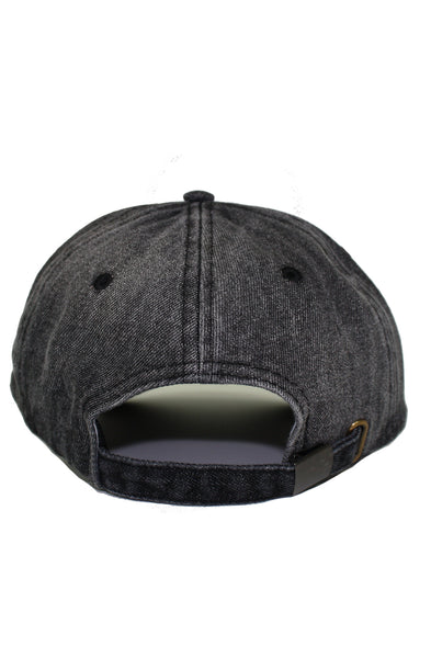 CIRCUS BLACK DENIM DAD HAT