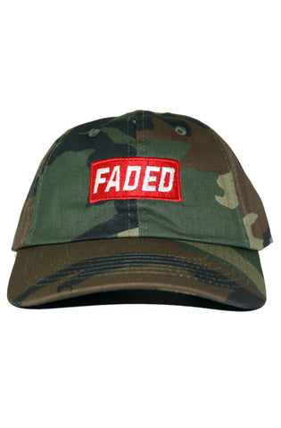 FADED CAMO BOX DAD HAT