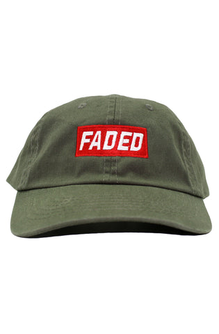 FADED BOX LOGO DAD HAT