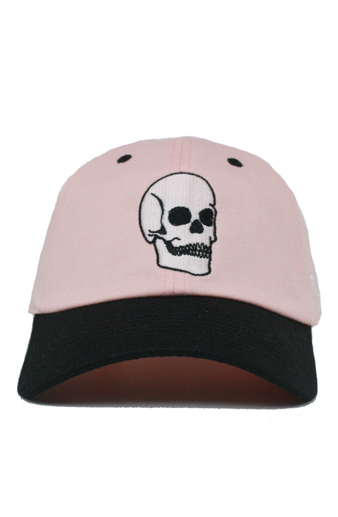 2 TONE FADED SKULL DAD HAT
