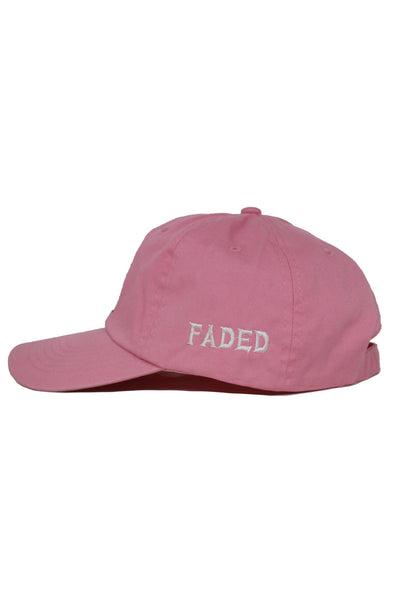 FADED PINK SKULL DAD HAT