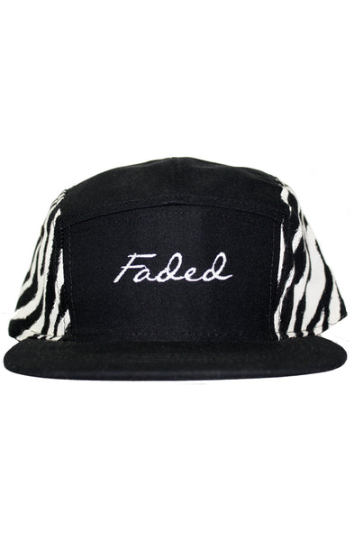 FADED SCRIPT ZEBRA SIDE