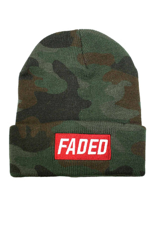 FADED CAMO BOX LOGO BEANIE