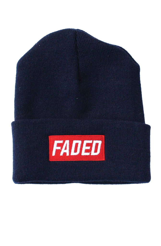 FADED BOX LOGO BEANIE