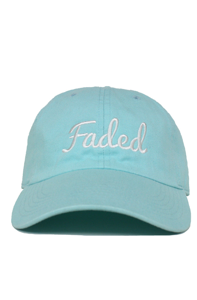 FADED SCRIPT - CELADON - DAD HAT