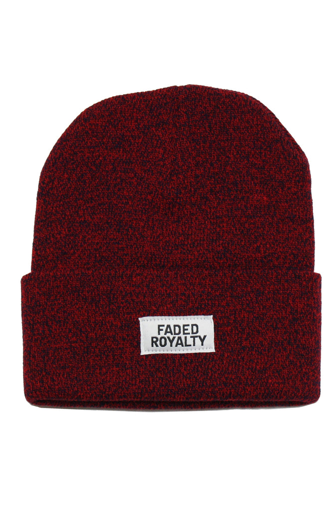 RED / BLACK MARBLE BEANIE