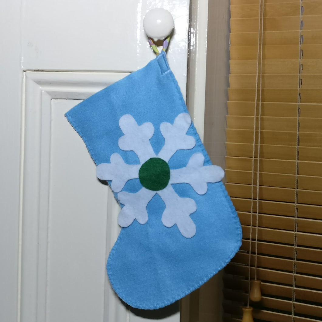 Handmade Christmas stocking, Snowflake