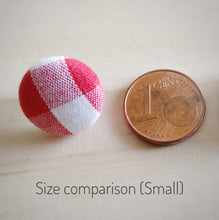 Fabric Button, Stud Earrings, Small size