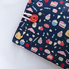 Dark blue Pastry-themed iPad Sleeve case (iPad Air 2/ iPad mini)