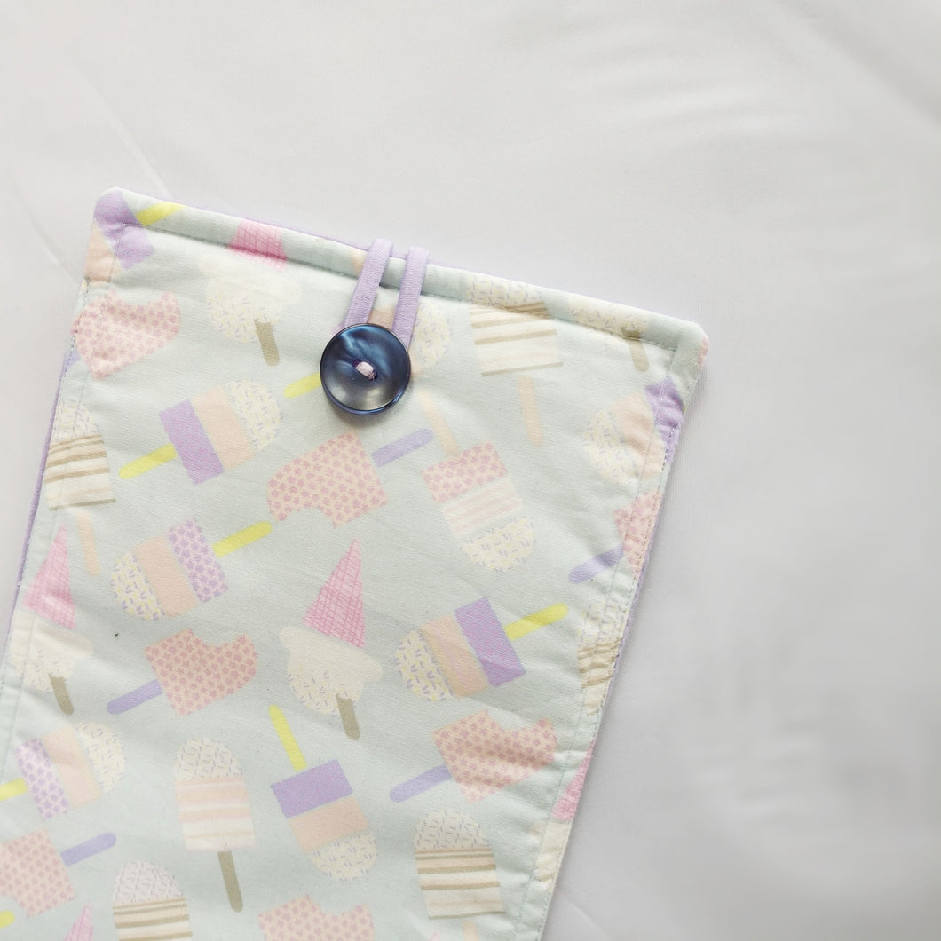 Baby blue ice-cream themed iPad Sleeve case (iPad Air 2/ iPad mini)