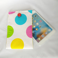 White colourful Polka-dot iPad Sleeve case (iPad Air 2/ iPad mini)