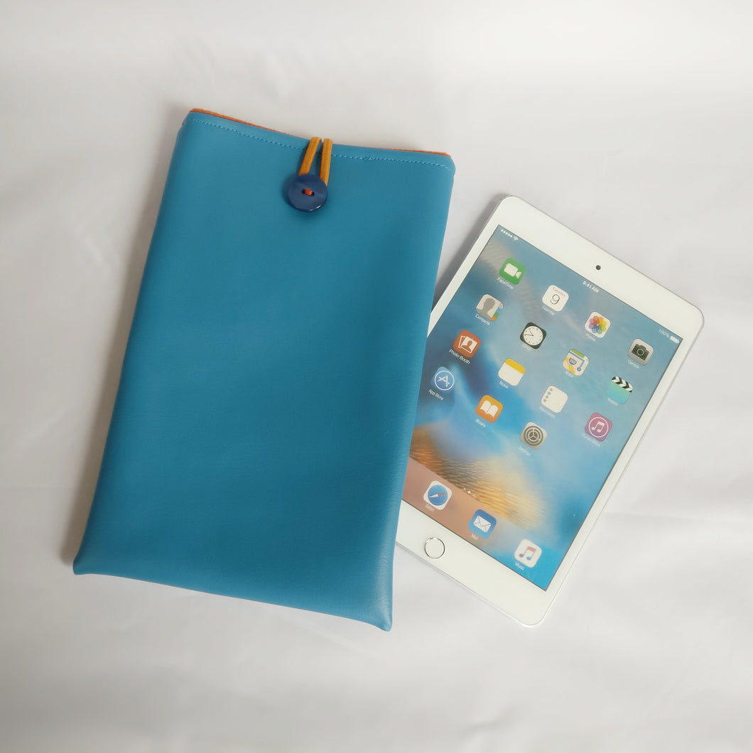 Blue green vinyl iPad Sleeve case (iPad Air 2/ iPad mini)