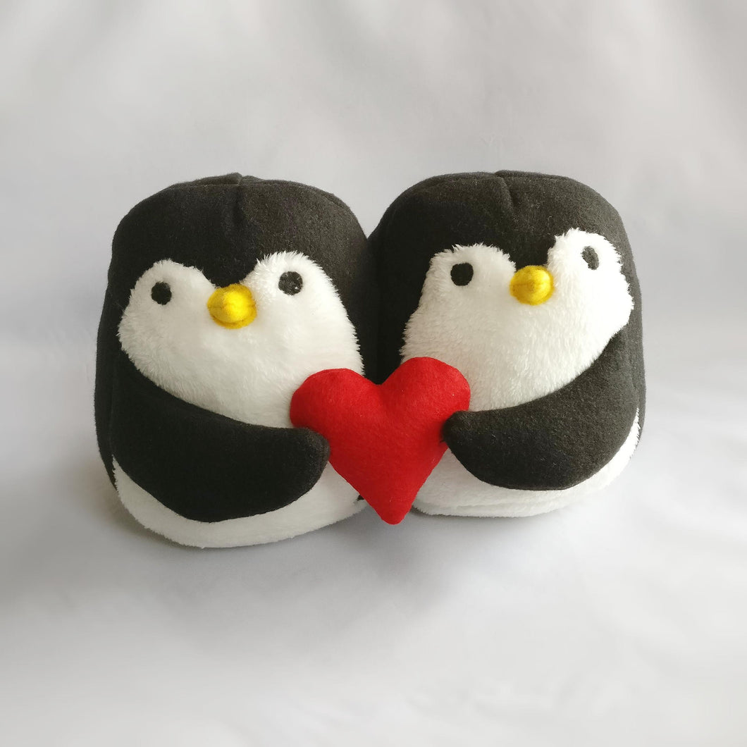 Handmade loving couple, Penguins plush toy, Stuffed toy
