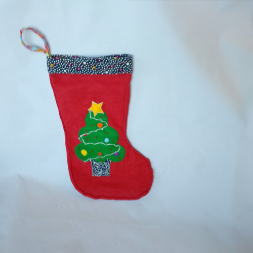 Handmade Christmas stocking, Christmas tree