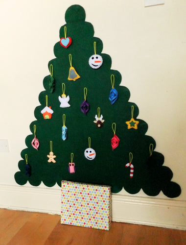 Handmade fabric Christmas tree,  Wall sticker