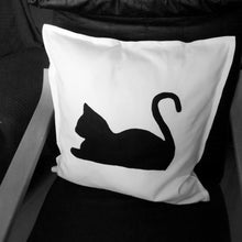 Black and white, Cat themed, Throw cushion Cover, Pillow cover (Single - cat body)