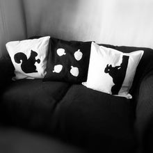 Black and white, Squirrel themed, Throw cushion Cover, Pillow cover (Combo)
