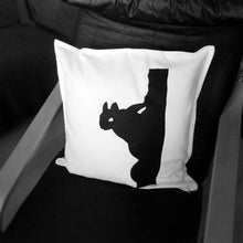 Black and white, Squirrel themed, Throw cushion Cover, Pillow cover (Single - squirrel face)