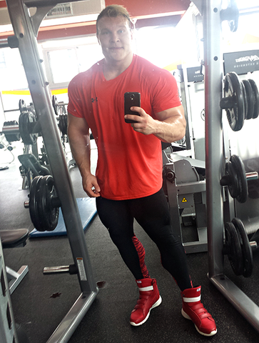Klaus Riis in Red Prime Trainers by Heyday Footwear