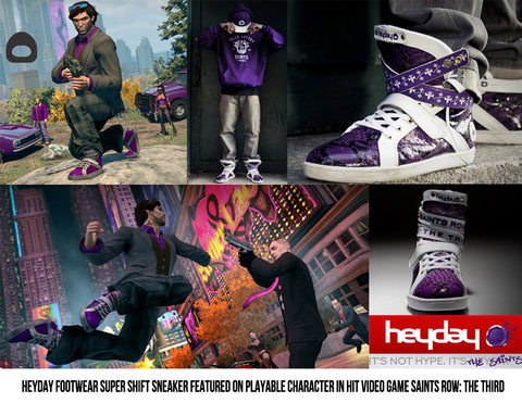 Saints Row 3 High Top Sneaker by Heyday Footwear