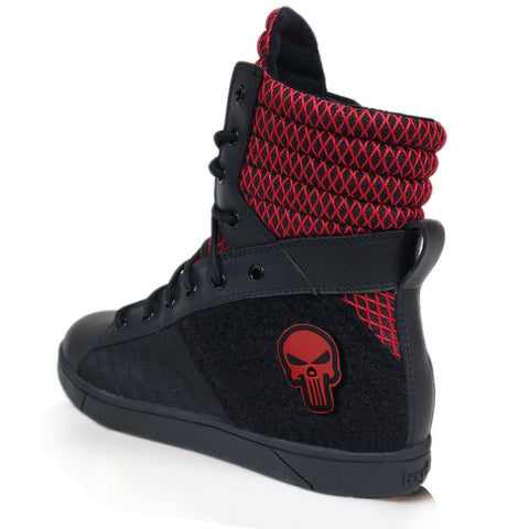 Black/Red Tactical Trainer 3.0 High Top Sneakers for Bodybuilding