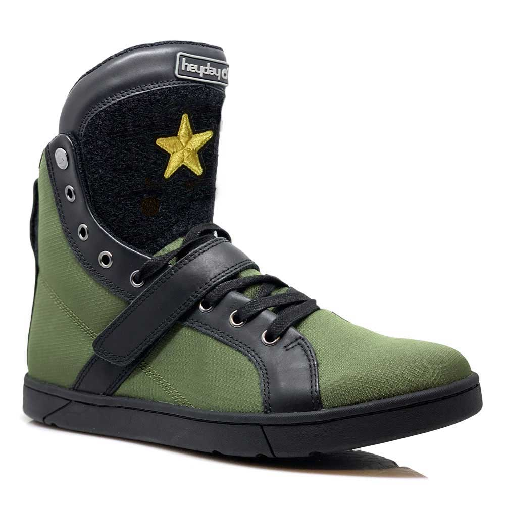 #MyHeyday Olive/Black Super Shift Bodybuilding High Top Sneakers