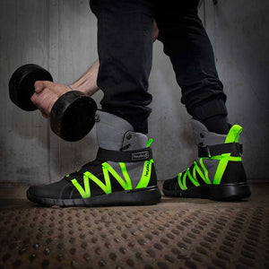 Grey/Black/Volt Super Freak 2.0 High Top Sneakers for Bodybuilding