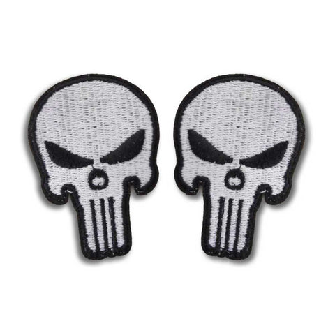White Skull Velcro Patches