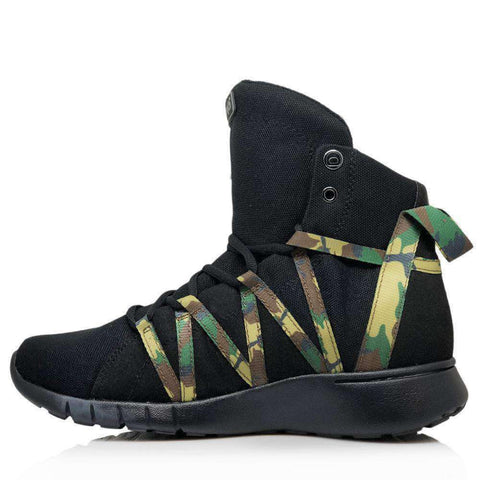 Image of Heyday Footwear Sneakers Black Camo Super Freak 2.0 High Top Sneaker for Cardio and Bodybuilding