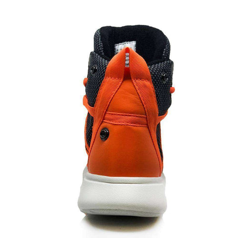 Heyday Footwear Sneakers Charcoal/Safety Orange Super Freak 2.0 High Top Sneaker for Cardio and Bodybuilding