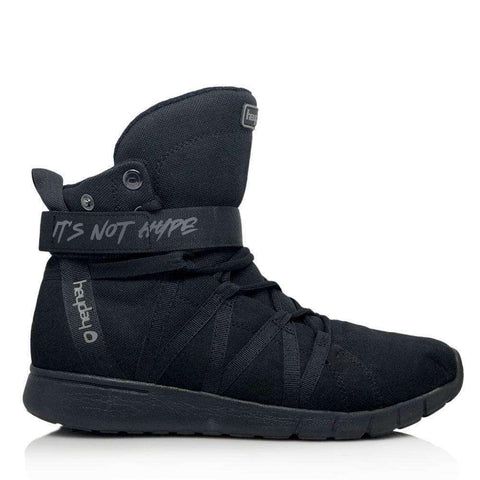 Image of Heyday Footwear Sneakers IN STOCK Men's 5/Women's 6 / Black PRE ORDER Black Ninja Super Freak 2.0 High Top Sneaker for Cardio and Bodybuilding