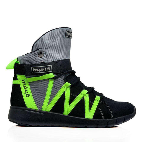 Image of Heyday Footwear Sneakers Men 5/Women 6 / Grey Grey/Black/Volt Super Freak 2.0 High Top Sneakers for Bodybuilding