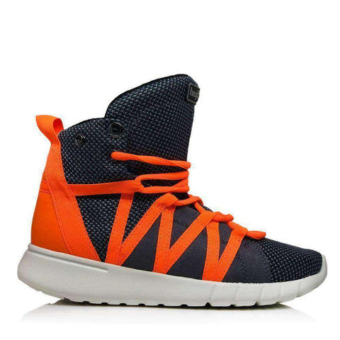 Image of Heyday Footwear Sneakers Men's 5/Women's 6.5 / Grey Charcoal/Safety Orange Super Freak 2.0 High Top Sneaker for Cardio and Bodybuilding