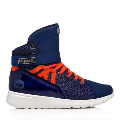 Image of Heyday Footwear Sneakers Men's 5/Women's 6 / Navy Navy/Infrared Mission Trainer High Top Sneakers for Bodybuilding and Cardio