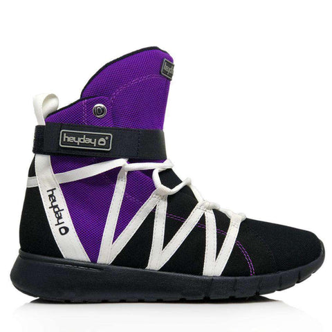 Image of Heyday Footwear Sneakers Men's 5/Women's 6 / Purple Purple/Black/White Super Freak 2.0 High Top Sneaker for Cardio and Bodybuilding