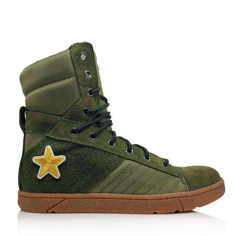 Image of Heyday Footwear Sneakers Mens 5/Womens 6.5 / Olive #MyHeyday Olive Tactical Trainer 2.0 High Top Sneakers
