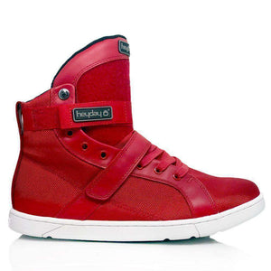 Heyday Footwear Sneakers Mens 5/Womens 6.5 / Red #MyHeyday Red Super Shift Bodybuilding High Top Sneakers