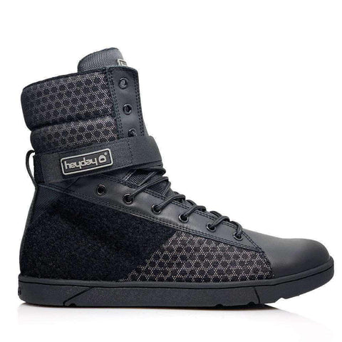 Image of Heyday Footwear Sneakers #MyHeyday Black Tactical Trainer 2.0 High Top Sneakers for Bodybuilding