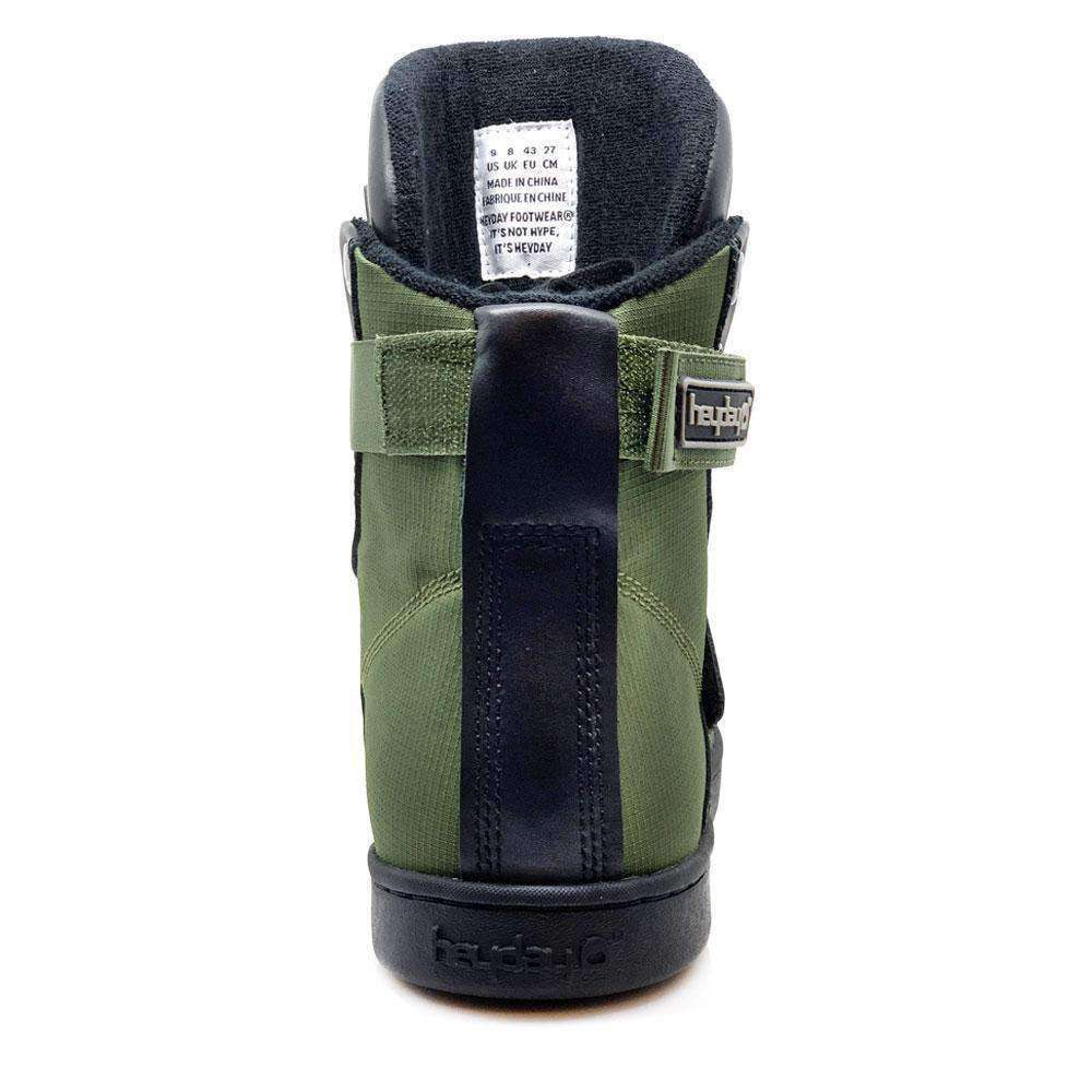 Heyday Footwear Sneakers #MyHeyday Olive/Black Super Shift Bodybuilding High Top Sneakers