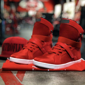 #MyHeyday Red Super Shift Bodybuilding High Top Sneakers