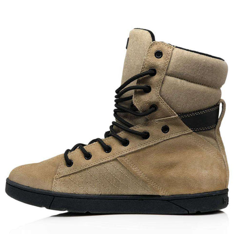 Heyday Footwear Sneakers #MyHeyday Sand/Black Tactical Trainer 2.0 High Top Sneakers for Bodybuilding